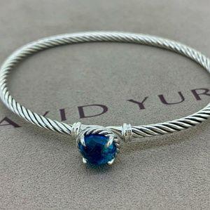 David Yurman Chatelaine Bracelet Blue Topaz